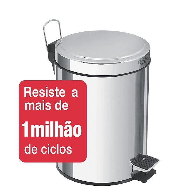 Lixeira Inox com Pedal Brasil 3 litros Tramontina