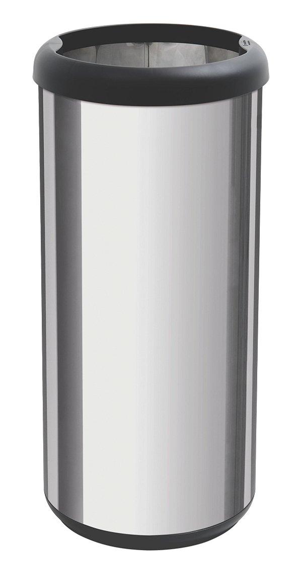 Lixeira Inox Capsula Selecta Plus Preto 40 litros Tramontina