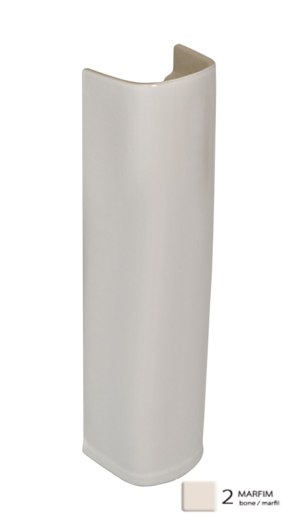 Coluna para Lavatório Prímula Plus Longa Marfim Fiori