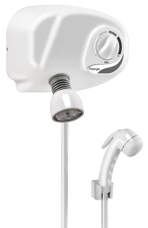Ducha  Potenza Pressurizada com Desviador Branca AQ035 220v Cardal