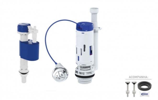 Kit para Caixa Acoplada Masterflux + Dual Flush 9562 Censi