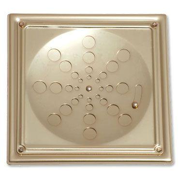 Grelha Quadrada Inox com Caixilho com Fecho Dourada 10cm 006-D Estilmax