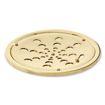 Grelha Redonda Inox com Caixilho com Fecho Dourada 10cm 005-D Estilmax