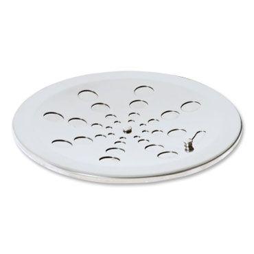 Grelha Redonda Inox sem Caixilho com Fecho Cromada 15cm 003-P Estilmax