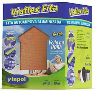 Manta Asfáltica Viaflex Fita Sleeve 20cmx10mt Cor:Telha Viapol