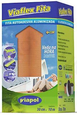 Manta Asfáltica Viaflex Fita Sleeve 30cmx10mt Cor:Telha Viapol
