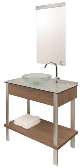 Gabinete Cris-Wood Set 80cm com Espelho Ref.954 Cris-Metal