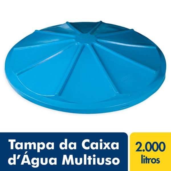 Tampa para Caixa D'Água Polietileno Multiuso 2.000L Afort Fortlev