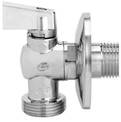Válvula Esfera Angular para Máquina de Lavar 1/2x3/4 Emmeti