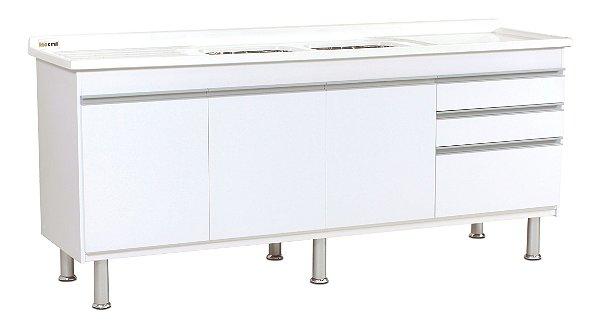 Gabinete de Cozinha Ferrara 175cm Branco Corso
