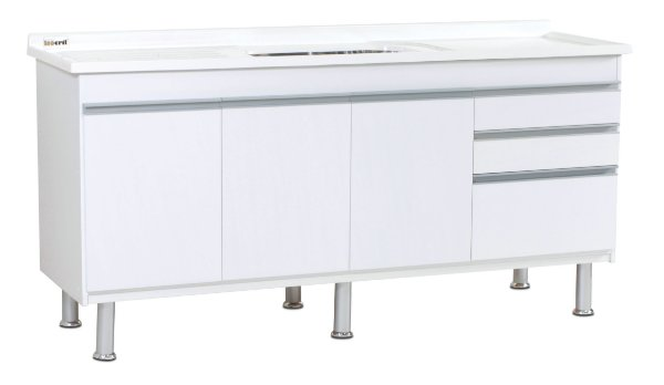 Gabinete de Cozinha Ferrara 195cm Branco Corso