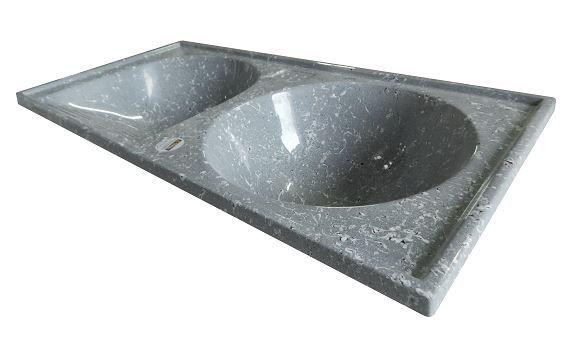 Tanque Granitado Conjugado Alvenaria 120x60 Cinza Corso