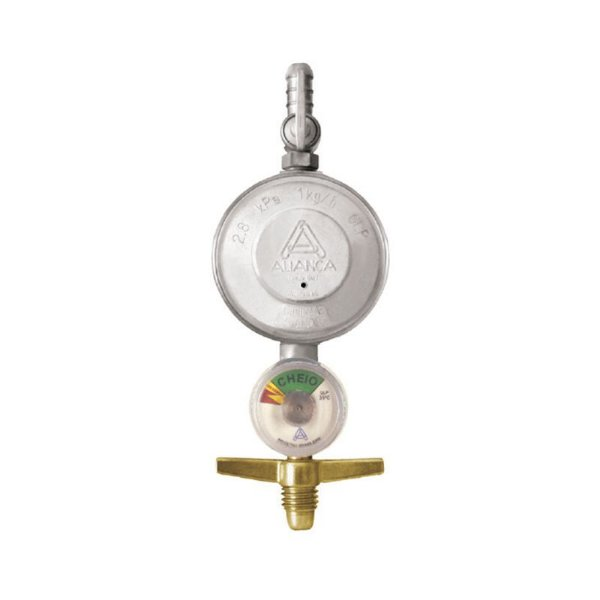 Regulador de Gás Doméstico 1kg/h com Manômetro 504/1 Aliança