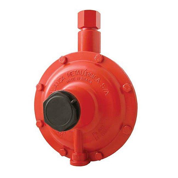 Regulador de Gás Industrial 50kg/h Vermelho 76510/02 Aliança