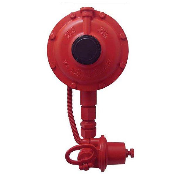 Regulador de Gás Industrial 50kg/h Vermelho DSA 76510/02 Aliança