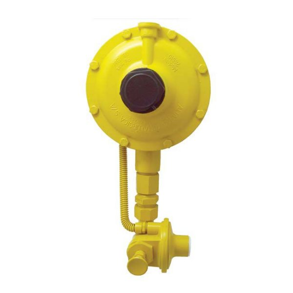 Regulador de Gás Industrial 50kg/h Amarelo DSA 76510 Aliança