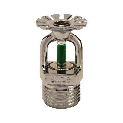 Sprinkler RTR 15mm Pendente Verde 93C° Cromado Skop