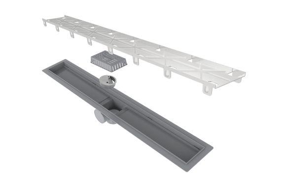 Ralo Linear Elleve Smart PVC Seco Tampa Oculta 60cm 262 Ralo Linear