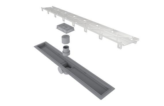 Ralo Linear Elleve Smart PVC Sifonado Tampa Oculta 60cm 915 Ralo Linear