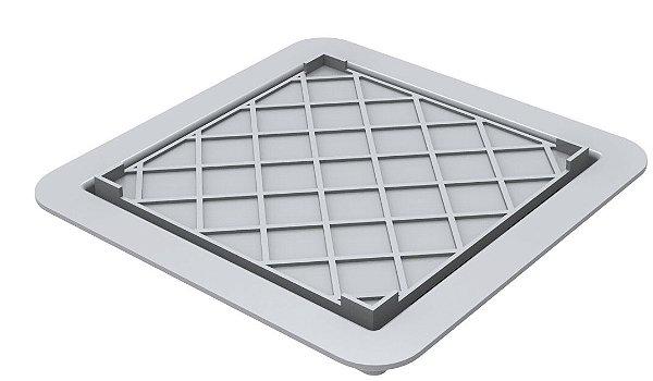 Ralo Linear Square Fit Tampa PVC Oculta 15x15cm