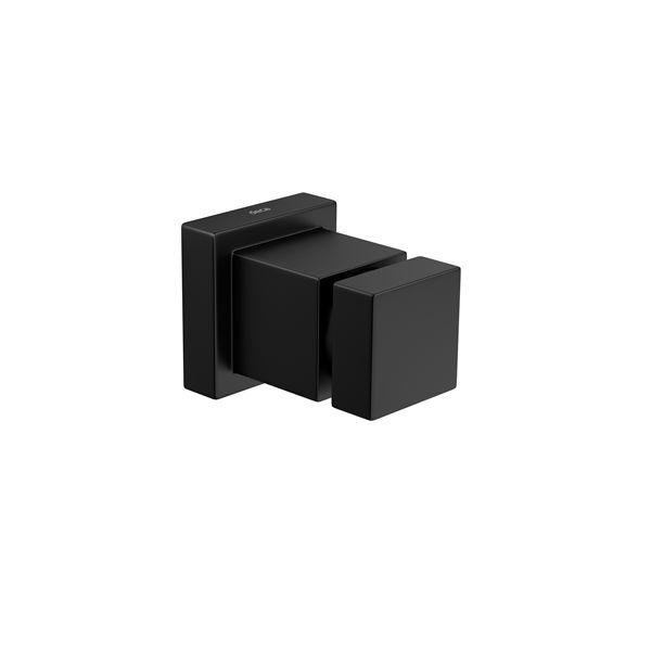 "Acabamento para Registro 4900 BL86 PQ MT 1/2"" a 1"" Black Matte Cubo Deca"