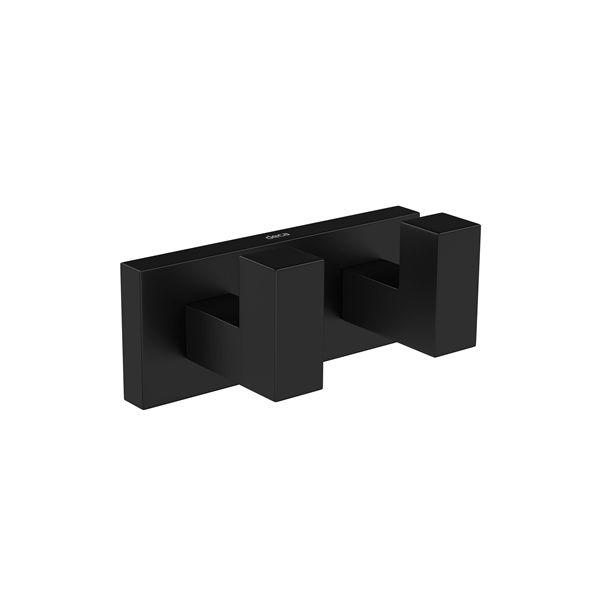 Cabide 2062 BL83 MT Duplo Black Matte Quadratta Deca