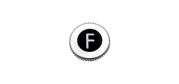 """Botão """"F"""" para Volante com Rosca Padrão Deca 100201 Blukit"""