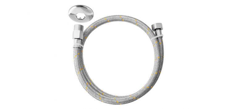 """Ligação Flexível para Instalação de Gás 1,5m 1/2""""(M) x 1/2""""(F) 180611 Blukit"""