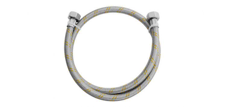 """Ligação Flexível para Instalação de Gás 1,2m 1/2""""(F) x 1/2""""(F) 180406 Blukit"""