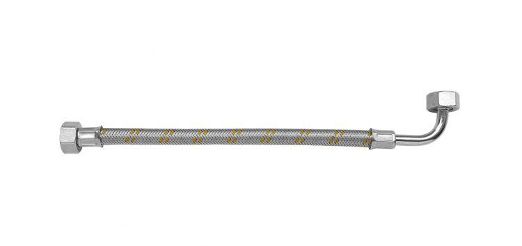 """Ligação Flexível com Joelho de 90º para Instalação de Gás 1/2""""x60cm 182303 Blukit"""