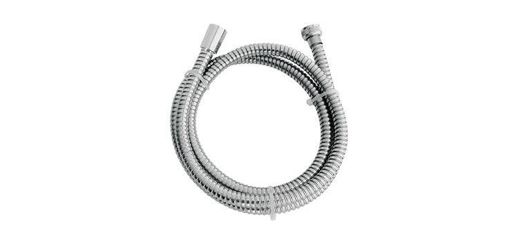 """Ligação Flexível Corrugada para Duchas Cromado 1,8m 1/2""""(FxF) 210903 Blukit"""