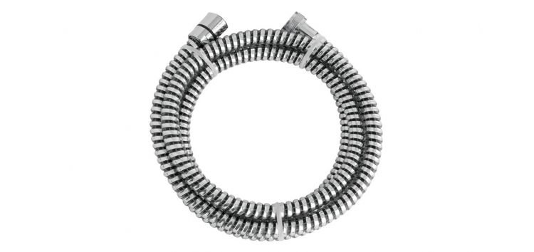 Ligação Flexível Corrugada para Duchas Cromado x Preto 1,8m 1/2''(FxF) 210104 Blukit