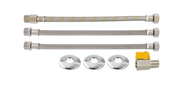Kit para Aquecedor de Passagem 40 cm 1/2''(MxF) 180508 Blukit