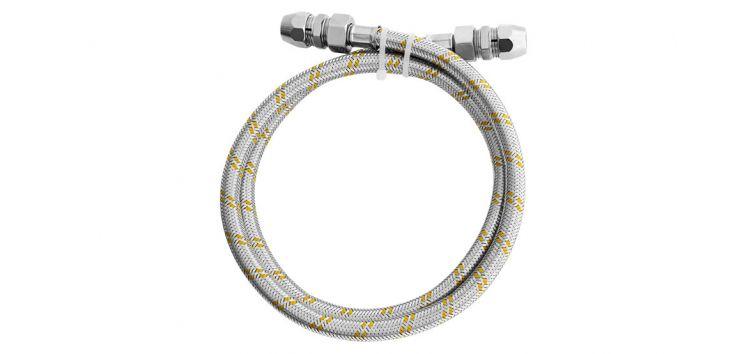 Kit para Instalação de Gás Flexivel 1,2 m 1/2''(F) x 3/8 180303 Blukit