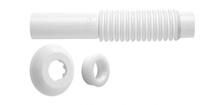 Tubo de Ligação Ajustável para Vaso Sanitário Branco 290403 Blukit