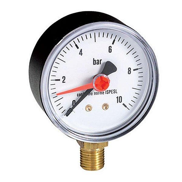 "Manômetro 1/2"" x 100mm 14Kgf/cm² Emmeti"