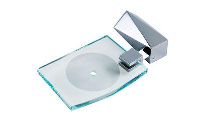 Saboneteira para Box Crystal Cromado Crismoe