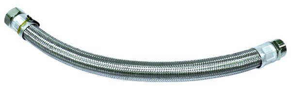 """Flexível de Aço Inox 1"""" x 50cm Rowa"""