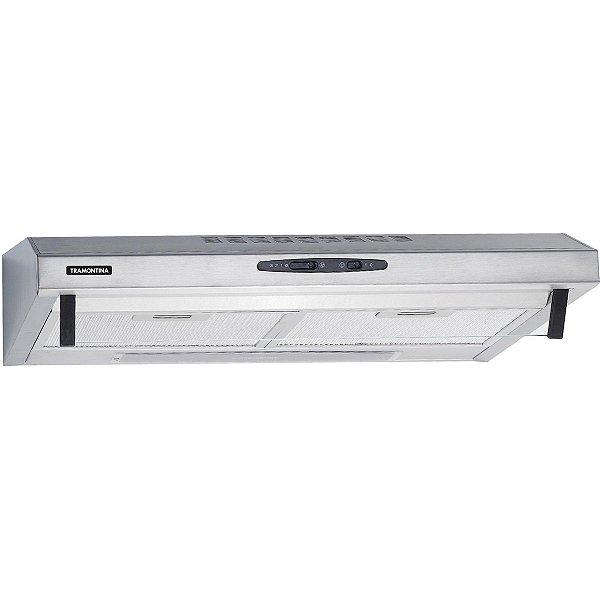 Depurador de Parede Compact em Aço Inox e Vidro Temperado 60 cm 220 V 94810/220 Tramontina