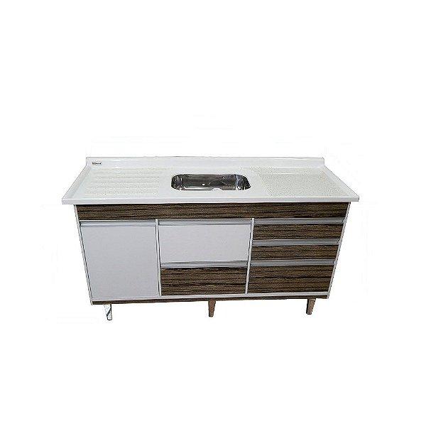 Gabinete de Cozinha Viseu 115cm Vintage Corso