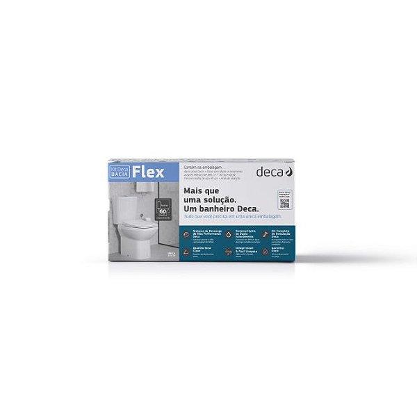 Kit Bacia com Caixa Acoplada e Acessórios para Instalação Flex Branco KP.380.17 Deca