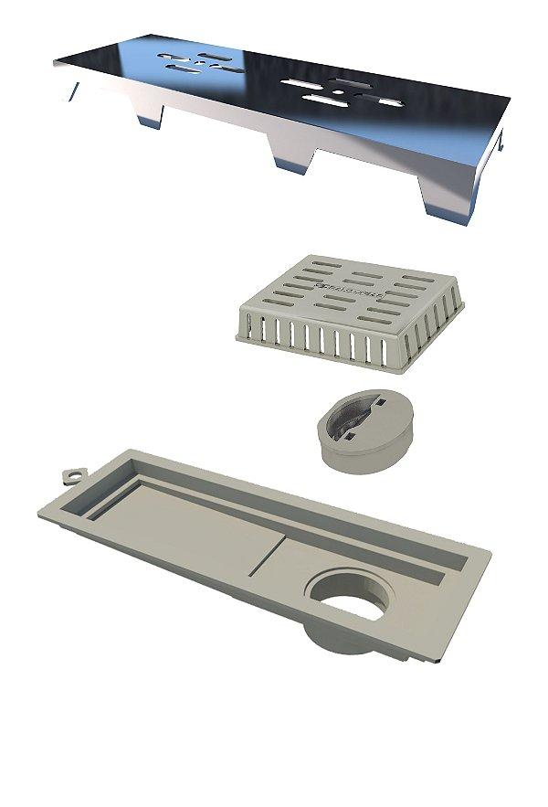 Ralo Novii PVC 25cm em ABS Cromado Ref. 2936 Ralo Linear