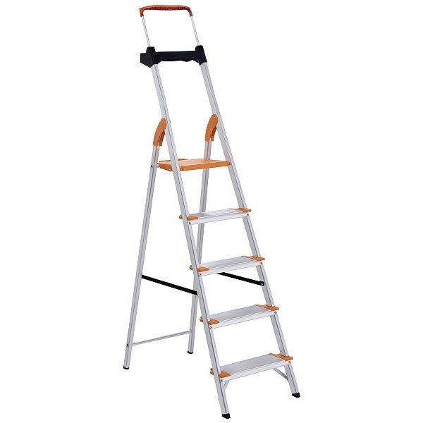 Escada de Alumínio Premium 5 Degraus Ref. 91850/115 Tramontina
