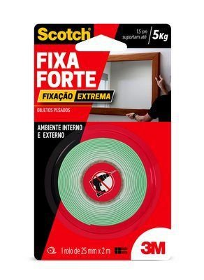 Fita Dupla Face Fixa Forte 24mmx2m 3M