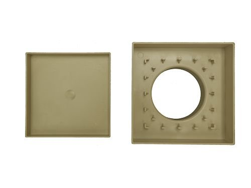 Ralo Personal Oculto 15x15 Bege Gemell