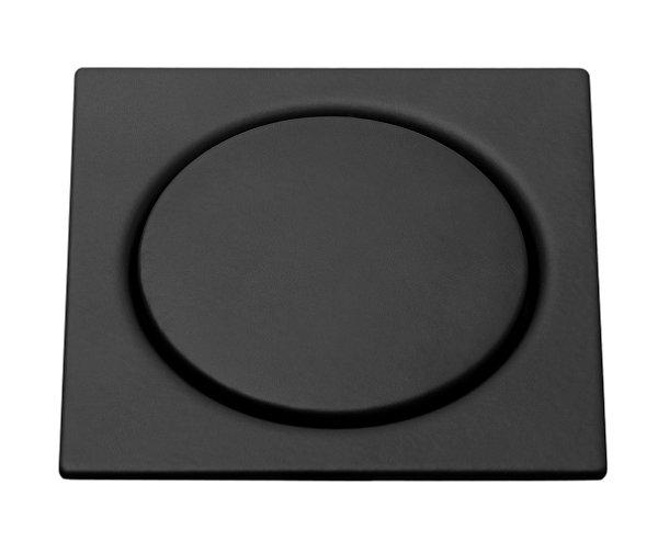 Grelha Quadrada Black Matt 10x10cm de Pressão Meber