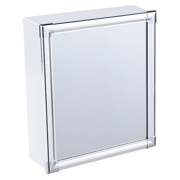 Armário Alumínio para Banheiro de Sobrepor 31x36x10cm Branco AL42 Astra