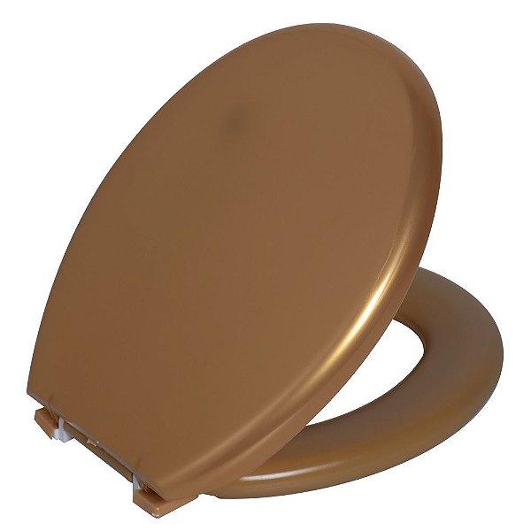 Assento Sanitário Convencional PP Almofadado TPK/AS Ouro Astra