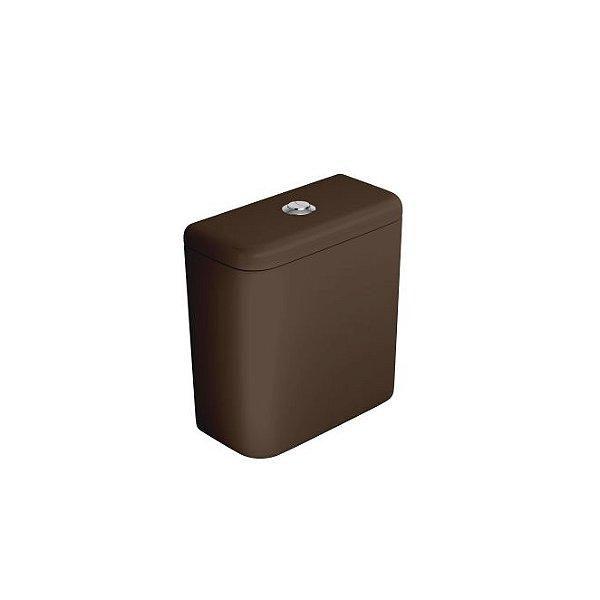 Caixa Acoplada com Acionamento Duo Carrara/Nuova CD.11F.22 Marrom Fosco/Cromado Deca