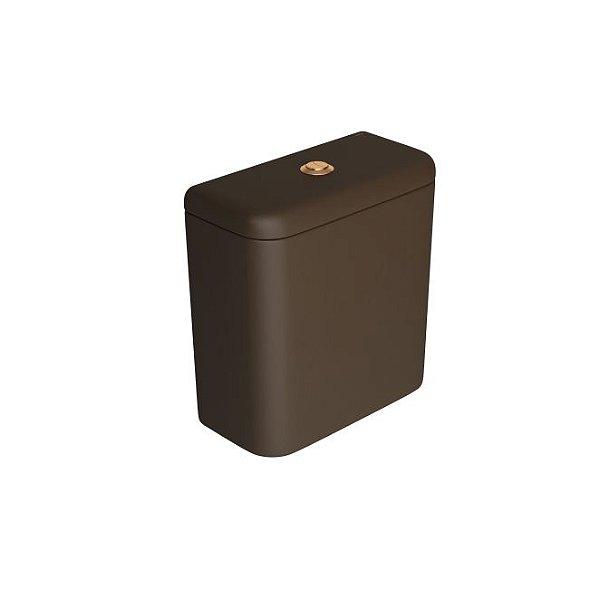 Caixa Acoplada com Acionamento Duo Carrara/Nuova CD.11F.GL.MT.22 Marrom Fosco/Gold Matte Deca
